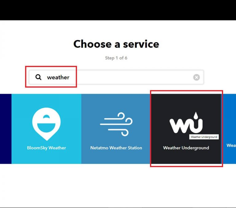 select-weather-underground-IFTTT-service